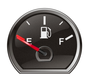 Fuel gage on empty North Carolina Family Law Divorce Attorney Lawyer Charlotte Alimony Child Support.jpg