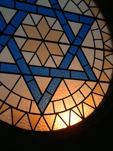 Stain glass star of David Charlotte North Carolina Family Law Divorce Attorney Lawyer.jpg