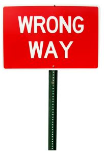 Wrong Way Sign 2 Charlotte Divorce Lawyer North Carolina Family Law Attorney