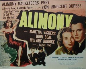 Alimony Movie Poster Mecklenburg Divorce Lawyer North Carolina Child Custody Attorney