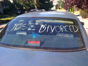 Just Divorced Car Charlotte Divorce Lawyer Mecklenburg County Family Attorney