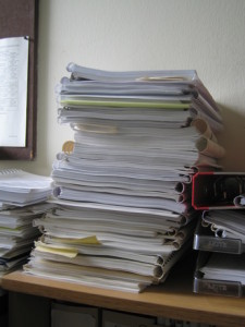 Stack of files Charlotte Divorce Lawyer Mecklenburg Family Attorney
