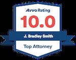 Avvo Rating 10.0 - J. Bradley Smith