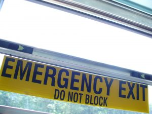 emergency-exit-Charlotte-Monroe-Lake-Norman-Child-Custody-Lawyers-300x225